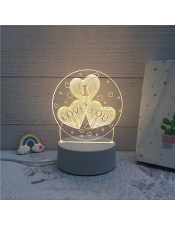 3D LED Creative Table Night Lights/Lamp For Office/Home Decor